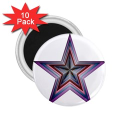 Star Abstract Geometric Art 2 25  Magnets (10 Pack)