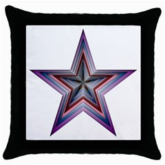 Star Abstract Geometric Art Throw Pillow Case (black)
