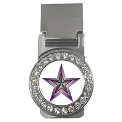 Star Abstract Geometric Art Money Clips (CZ)