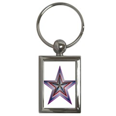 Star Abstract Geometric Art Key Chains (Rectangle)
