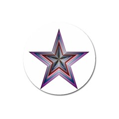 Star Abstract Geometric Art Magnet 3  (round)