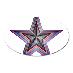 Star Abstract Geometric Art Oval Magnet