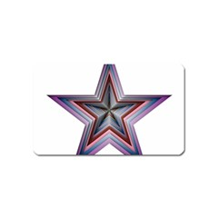 Star Abstract Geometric Art Magnet (Name Card)