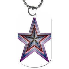 Star Abstract Geometric Art Dog Tag (One Side)