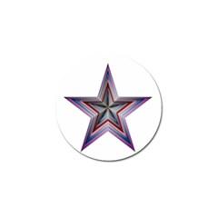 Star Abstract Geometric Art Golf Ball Marker
