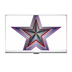 Star Abstract Geometric Art Business Card Holders