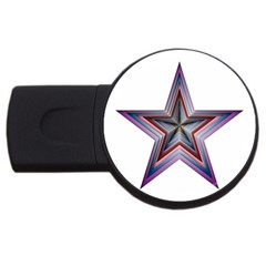Star Abstract Geometric Art Usb Flash Drive Round (2 Gb)