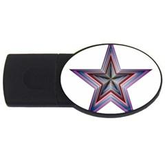 Star Abstract Geometric Art Usb Flash Drive Oval (2 Gb)