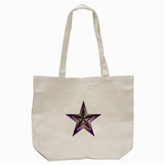 Star Abstract Geometric Art Tote Bag (cream)