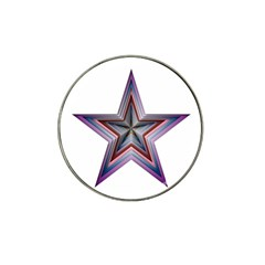 Star Abstract Geometric Art Hat Clip Ball Marker (10 Pack)
