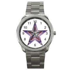 Star Abstract Geometric Art Sport Metal Watch