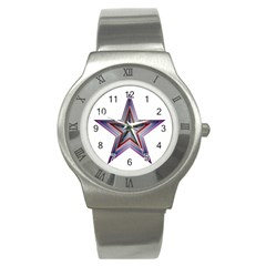 Star Abstract Geometric Art Stainless Steel Watch
