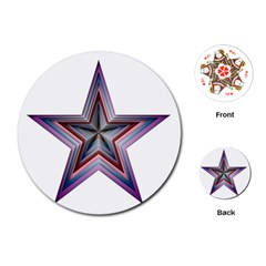 Star Abstract Geometric Art Playing Cards (round)
