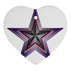 Star Abstract Geometric Art Heart Ornament (two Sides)