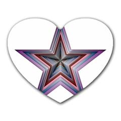 Star Abstract Geometric Art Heart Mousepads