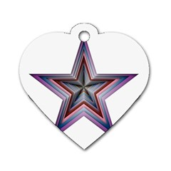 Star Abstract Geometric Art Dog Tag Heart (one Side)