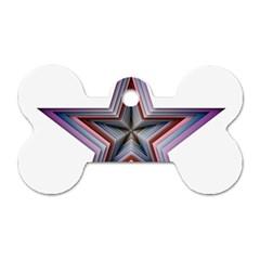 Star Abstract Geometric Art Dog Tag Bone (one Side)