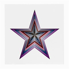 Star Abstract Geometric Art Medium Glasses Cloth (2-Side)