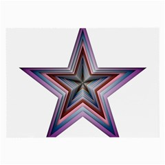Star Abstract Geometric Art Large Glasses Cloth (2-Side)