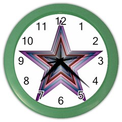 Star Abstract Geometric Art Color Wall Clocks