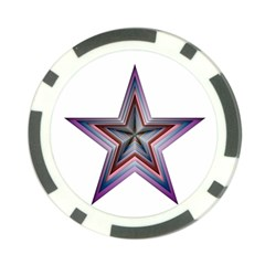 Star Abstract Geometric Art Poker Chip Card Guard
