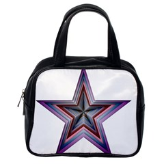 Star Abstract Geometric Art Classic Handbags (One Side)