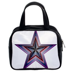 Star Abstract Geometric Art Classic Handbags (2 Sides)