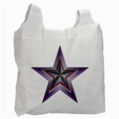 Star Abstract Geometric Art Recycle Bag (one Side)