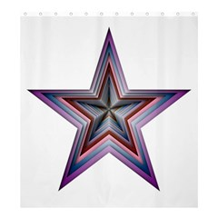 Star Abstract Geometric Art Shower Curtain 66  X 72  (large)