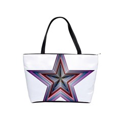 Star Abstract Geometric Art Shoulder Handbags