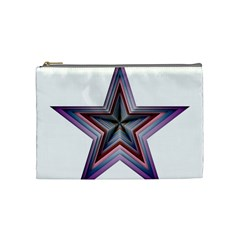 Star Abstract Geometric Art Cosmetic Bag (medium)