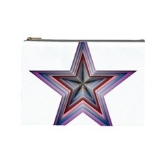 Star Abstract Geometric Art Cosmetic Bag (Large)