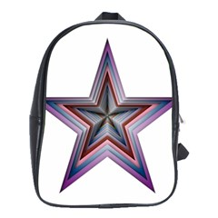 Star Abstract Geometric Art School Bags(large)