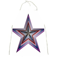 Star Abstract Geometric Art Full Print Aprons