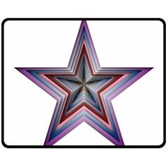 Star Abstract Geometric Art Fleece Blanket (medium)