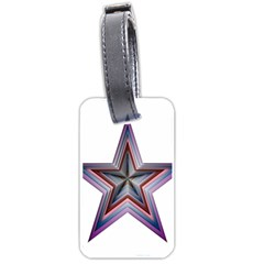 Star Abstract Geometric Art Luggage Tags (one Side)