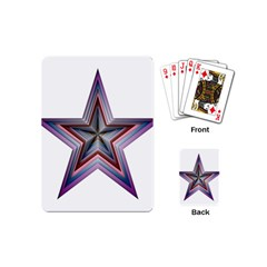 Star Abstract Geometric Art Playing Cards (mini)