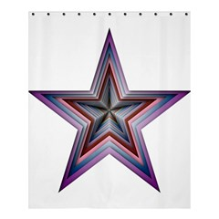 Star Abstract Geometric Art Shower Curtain 60  x 72  (Medium)