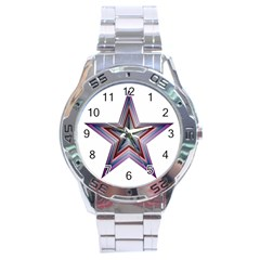 Star Abstract Geometric Art Stainless Steel Analogue Watch