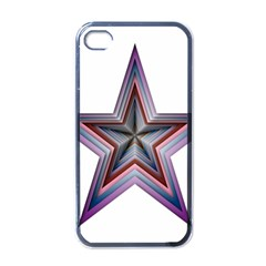 Star Abstract Geometric Art Apple Iphone 4 Case (black)