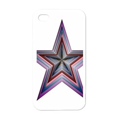 Star Abstract Geometric Art Apple Iphone 4 Case (white)