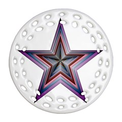 Star Abstract Geometric Art Round Filigree Ornament (two Sides)