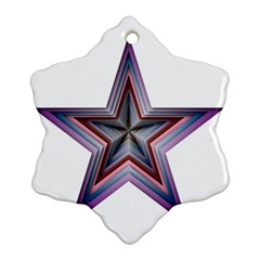 Star Abstract Geometric Art Snowflake Ornament (two Sides)