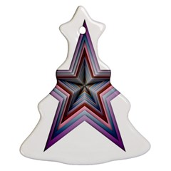 Star Abstract Geometric Art Christmas Tree Ornament (two Sides)
