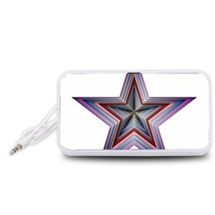 Star Abstract Geometric Art Portable Speaker (White)