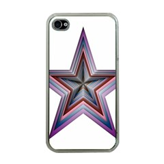 Star Abstract Geometric Art Apple Iphone 4 Case (clear)