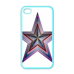 Star Abstract Geometric Art Apple Iphone 4 Case (color)