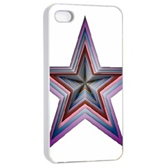 Star Abstract Geometric Art Apple Iphone 4/4s Seamless Case (white)
