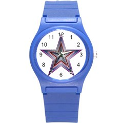 Star Abstract Geometric Art Round Plastic Sport Watch (s)