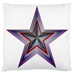 Star Abstract Geometric Art Large Cushion Case (one Side)
